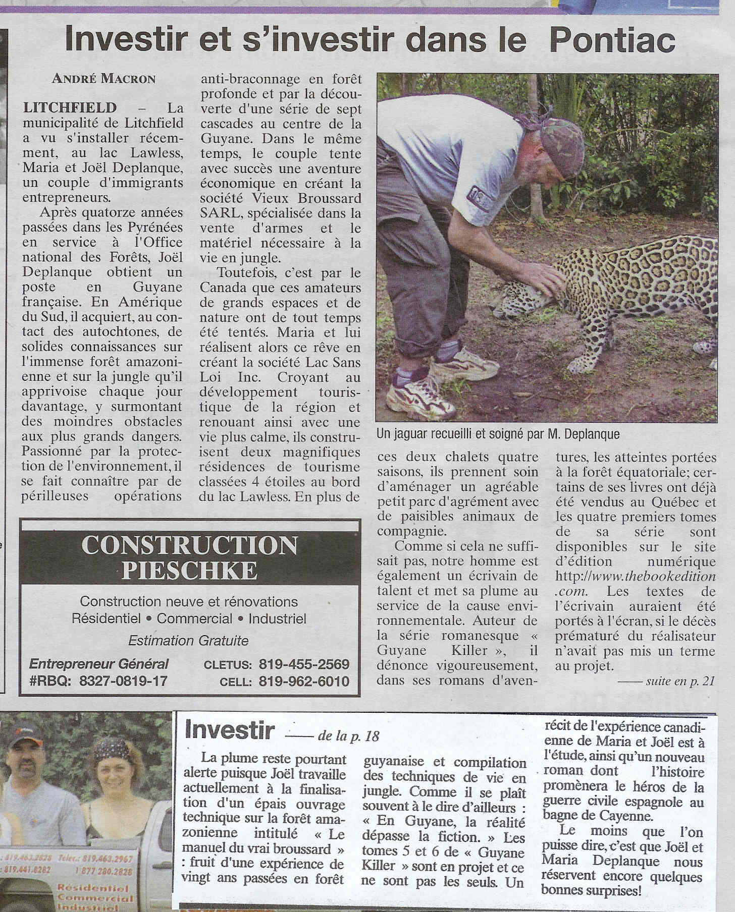 Article complet journal pontiac